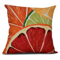 Lemonade Tropical Square Throw Pillow in Orange
