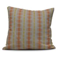Watercolor Stripe Square Throw Pillow in Yellow