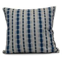 Watercolor Stripe Square Throw Pillow in Blue