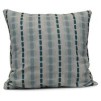 Watercolor Stripe Square Throw Pillow in Teal