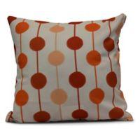Brady Beads Stripe Square Throw Pillow in Orange