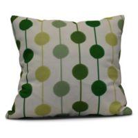 Brady Beads Stripe Square Throw Pillow in Green