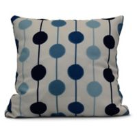 Brady Beads Stripe Square Throw Pillow in Navy Blue