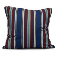 Multi-Stripe Square Throw Pillow in Blue