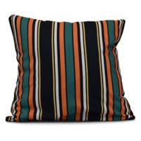 Multi-Stripe Square Throw Pillow in Orange