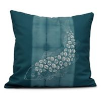 Fish Pool Coastal Square Throw Pillow in Teal