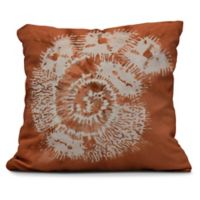 Conch Square Throw Pillow in Coral