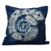 Conch Square Throw Pillow in Blue