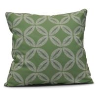 Tidepool Square Throw Pillow in Green
