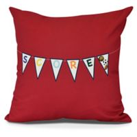 """""""Score!"""" Square Throw Pillow in Red"""
