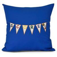 """""""Score!"""" Square Throw Pillow in Royal Blue"""
