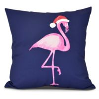 Snow Bird Square Throw Pillow in Navy