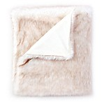 De Moocci® Faux Fur Tip Dye Throw Blanket in Blush