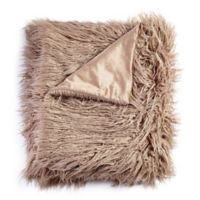 De Moocci® Mongolian Faux Fur Throw Blanket in Light Coffee