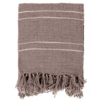Surya Traveler Throw Blanket in Grey/White