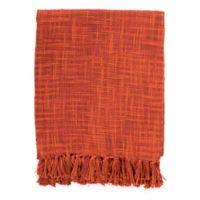 Surya Tori Throw Blanket in Burnt Orange/Rust