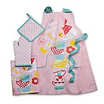 Rue Montmartre Breakfast Butter 4-Piece Kitchen Linens Set in Pink