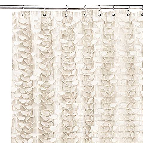 Gigi Ivory Shower Curtain - Bed Bath & Beyond