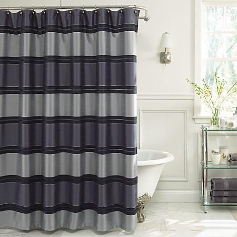Merveilleux Jardin Stripe 72 Inch X 72 Inch Fabric Shower Curtain In Navy   Bed Bath U0026  Beyond