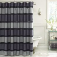 Jardin Stripe 72-Inch x 72-Inch Fabric Shower Curtain in Navy