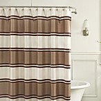 Jardin Stripe 72-Inch x 72-Inch Fabric Shower Curtain in Taupe