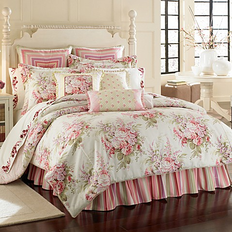 J queen rosemoor comforter set 100 cotton bed bath - Bed bath and beyond bedroom furniture ...
