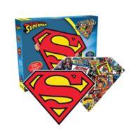 Aquarius DC Comics™ Superman Logo/Collage Double-Sided Shaped 600-Piece Jigsaw Puzzle
