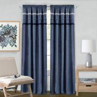 Achim Blue Jean 63-Inch Rod Pocket Window Curtain Panel in Blue