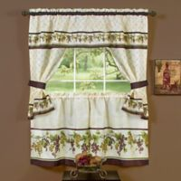 Achim Tuscany 36-Inch Rod Pocket Cottage Window Tier and Valance Set in Red/Green