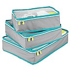 InterDesign® Aspen Packing Cubes in Grey (Set of 3)