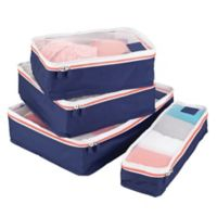 InterDesign® Aspen Packing Cubes in Navy (Set of 4)