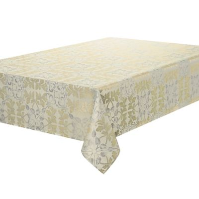 Waterford Linens® Octavia 70 Inch X 144 Inch Oblong Tablecloth In Gold