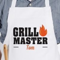 Master Of The Grill Adult Apron in White
