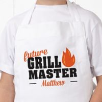 Future Master Of Grill Youth Apron in White