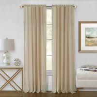 Achim Wallace 63-Inch Rod Pocket Window Curtain Panel in Linen