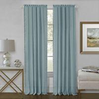Achim Wallace 63-Inch Rod Pocket Window Curtain Panel in Aqua