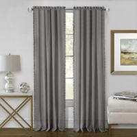 Achim Wallace 63-Inch Rod Pocket Window Curtain Panel in Grey