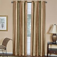 Ombre 84-Inch Rod Pocket Window Curtain Panel in Earth