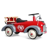 Baghera Vintage Metal Ride-On Speedster Fireman Car in Red