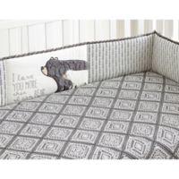 Levtex Baby® Bailey 4-Piece Crib Bumper Set in Dark Grey