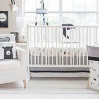 My Baby Sam Little Black Bear 3-Piece Crib Bedding Set in Black