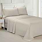 Ellen Tracy Solid Microfiber King Sheet Set in Taupe