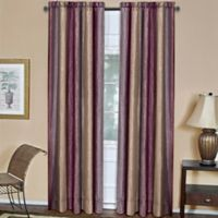 Ombre 84-Inch Rod Pocket Window Curtain Panel in Aubergine