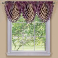 Ombre Waterfall Valance in Aubergine