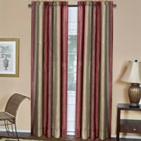 Ombre 84-Inch Rod Pocket Window Curtain Panel in Burgundy
