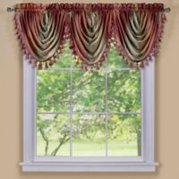 Ombre Waterfall Valance in Burgundy