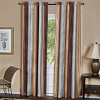 Ombre 84-Inch Rod Pocket Window Curtain Panel in Chocolate