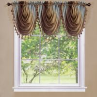 Ombre Waterfall Valance in Chocolate