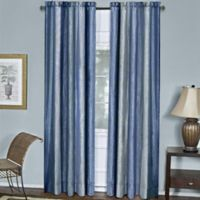 Ombre 84-Inch Rod Pocket Window Curtain Panel in Blue