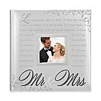 Mr. & Mrs. 160-Photo Wedding Album in Silver